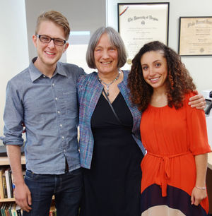 Will and Anisa posing with Christina Engelbart